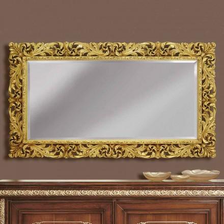 Miroir mural en bois aux lignes modernes, fabriqué à la main en Italie, Alex