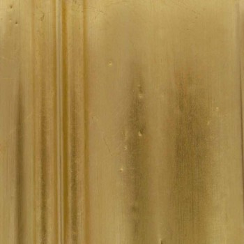 Miroir mural en bois de sapin, frise en résine Elia de fabrication italienne à la main