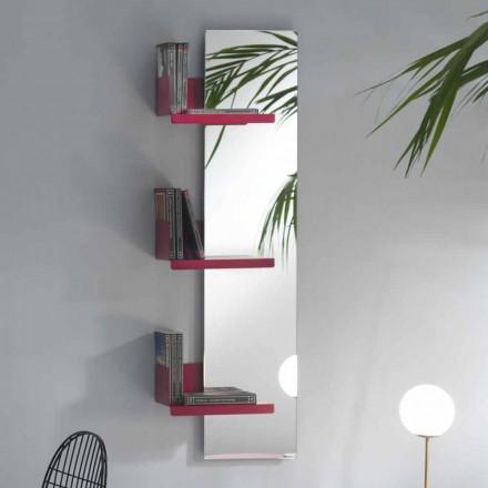 Miroir mural et 3 étagères en métal de couleur design de luxe - Noelle