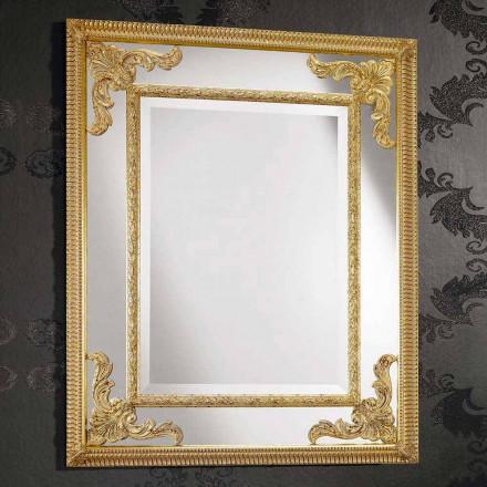 Miroir mural rectangulaire en bois, fabriqué en Italie, Valentino
