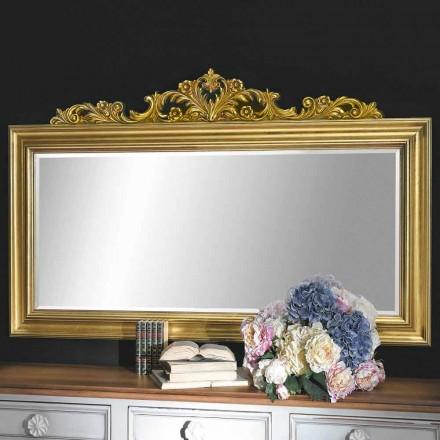 Miroir mural fait main en bois et résine, fabriqué en Italie Matteo
