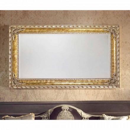 Miroir mural rectangulaire aux lignes modernes, fabriqué en Italie, Umberto