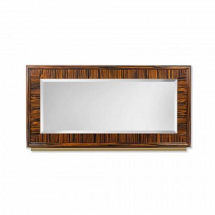 Miroir biseauté en ébène et métal Ada 1