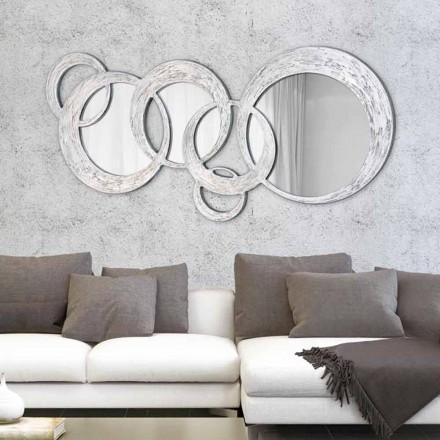 Miroir Décoratif Mural design italien Circles, décoré à la main