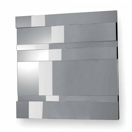 Miroir mural design moderne en verre et métal fabriqué en Italie - Pallino