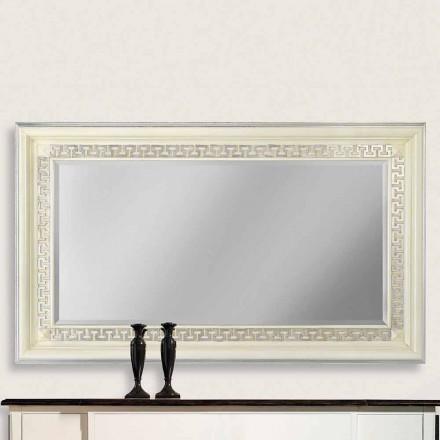 Miroir mural en bois ayous, entièrement fabriqué en Italie, Maicol