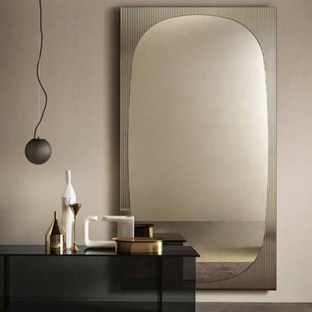 Miroir mural moderne avec miroir en bronze fabriqué en Italie - Bandolero