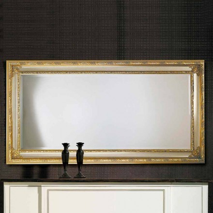 Miroir mural moderne en bois ayous, fabriqué en Italie, Armando