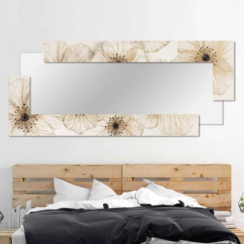 Miroir Mural De Design Italien Avec Décoration Floral Sacile