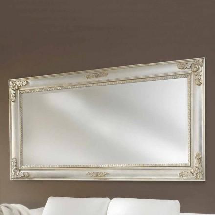 Miroir mural fait à la main en bois ayous, fabriqué en Italie, Alessio