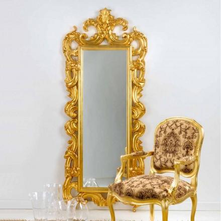 Miroir de sol/mural design classique, finition en feuille d' or Guerin