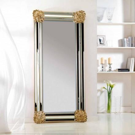 Miroir de sol/ mural de design cadre en bois Luti,96x196 cm