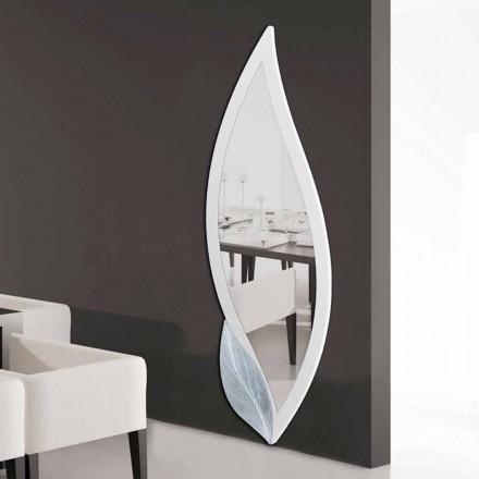 Grand miroir décoratif mural en forme de pétale Ellen, fait en Italie