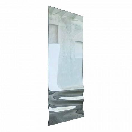 Grand miroir au fini cristal ondulé fabriqué en Italie - Athena