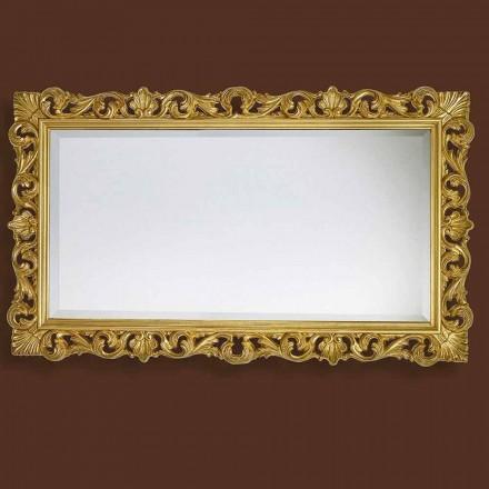 Miroir moderne fait main en bois, fabriqué entièrement en Italie, Nicol