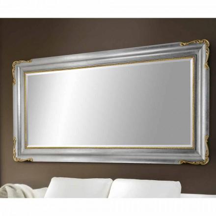 Miroir mural fait main en bois, entièrement fabriqué en Italie, Cristian