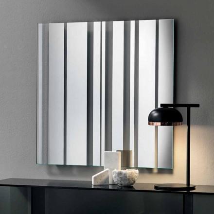 Miroir mural carré au design moderne fabriqué en Italie - Coriandolo