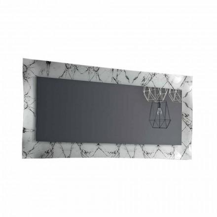 Miroir Design Rectangulaire avec Cadre en Verre Fabriqué en Italie - Eclisse