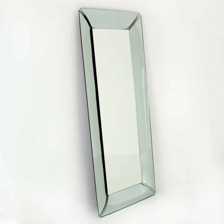 Grand miroir rectangulaire en cristal design Made in Italy - Twin