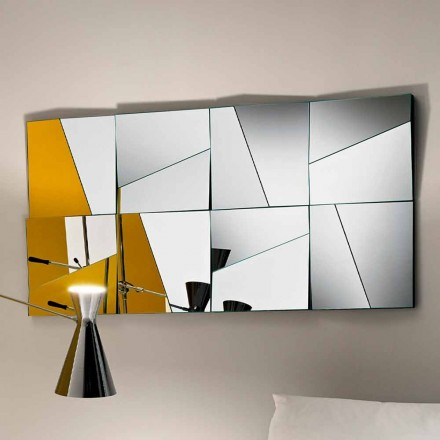 Miroir mural modulaire avec miroirs concaves et convexes Made in Italy - Allegria