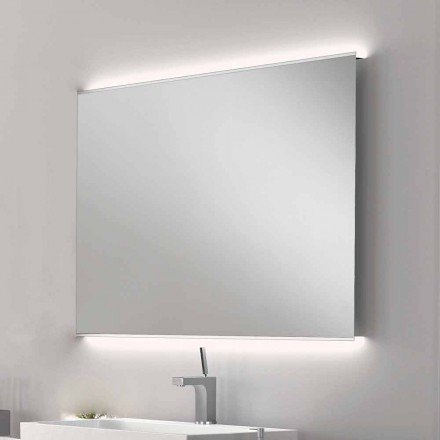 Miroir de salle de bain avec design moderne Luminaire LED avec bords satin Veva