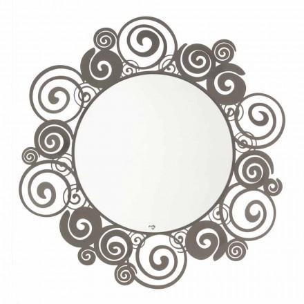 Miroir mural circulaire de design moderne en fer fabriqué en Italie - Moira