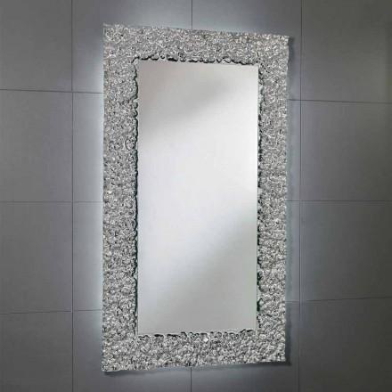Miroir en verre design moderne avec décoration, Cecilia
