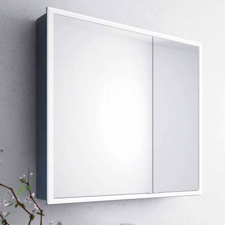 Miroir mural moderne à 2 portes, éclairage LED, Adele