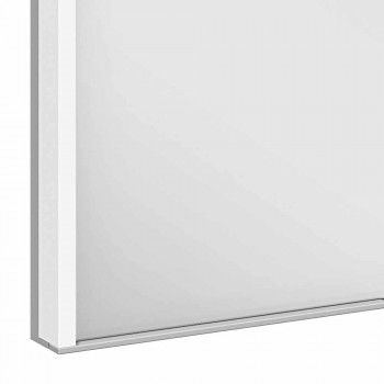 Armoire de toilette moderne encastrée en aluminium peint argenté - Demon
