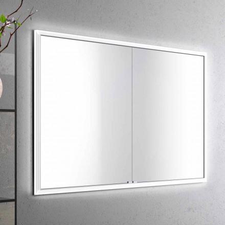 Miroir LED encastré au design moderne avec 2 portes, Adele
