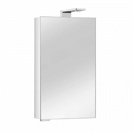 Armoire de toilette avec porte en cristal et détails chromés, moderne - Maxi