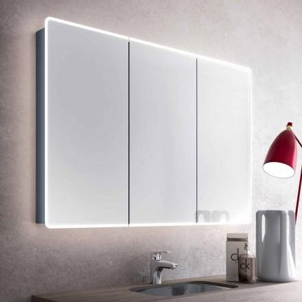Miroir de salle de bains mural avec led et 3 portes design moderne valter - Viadurini bagno ...