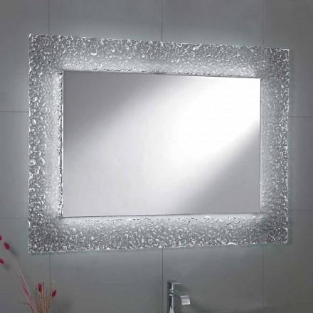 Miroir moderne de salle de bains avec la décoration de cadre en verre et les lumières de Tara de LED