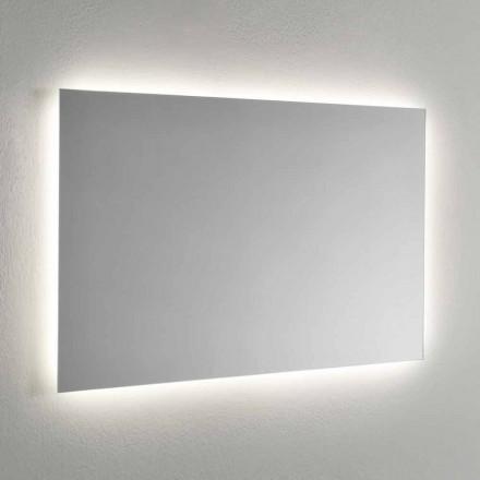 Miroir mural avec rétroéclairage LED sur 4 côtés Made in Italy - Romio