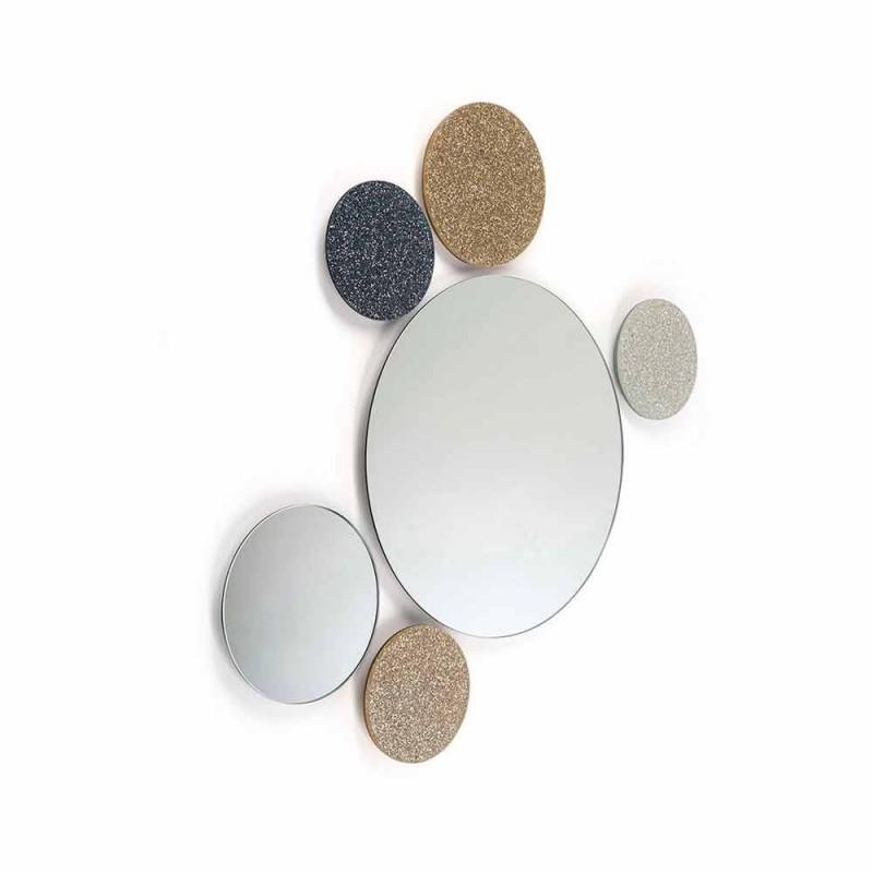 mur design Miroir rond Modeno fait en Italie ADDO