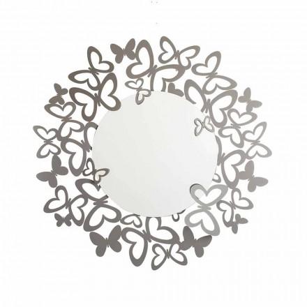 Miroir mural circulaire de design moderne en fer fabriqué en Italie - Stelio