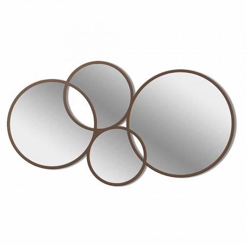 Finition couleur miroir design moderne en forme d'anneau - Synthèse