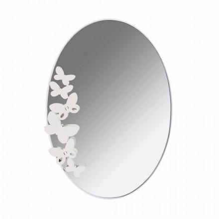 Miroir mural ovale en fer de conception moderne fabriqué en Italie - beurre