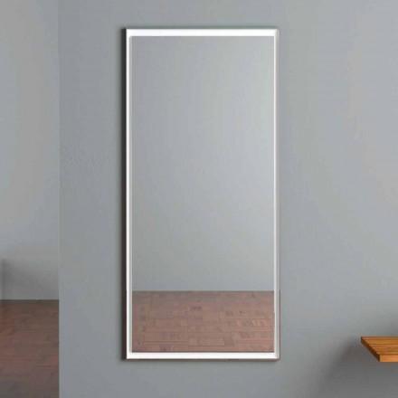 Miroir mural éclairé par LED avec interrupteur tactile fabriqué en Italie - Ammar