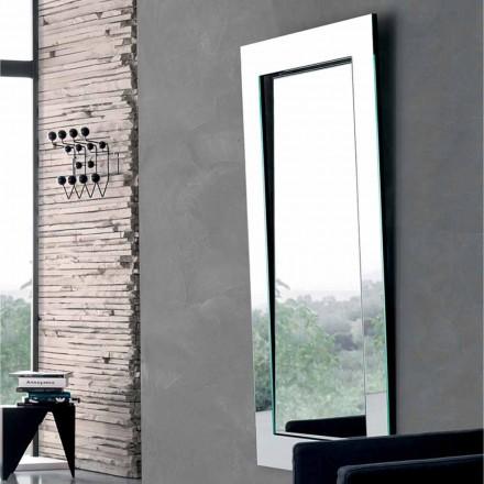 Miroir mural rectangulaire avec cadre incliné Made in Italy - Salamina