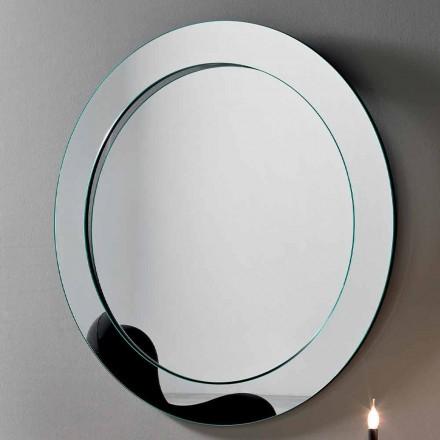 Miroir mural rond avec cadre incliné Made in Italy - Salamina