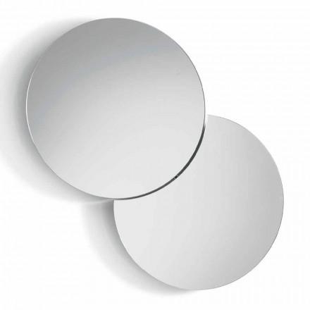 Miroir mural rond avec satellite pivotant à 360 ° Made in Italy - Shaki