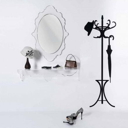 Miroir de design transparent Joy, fait en Italie