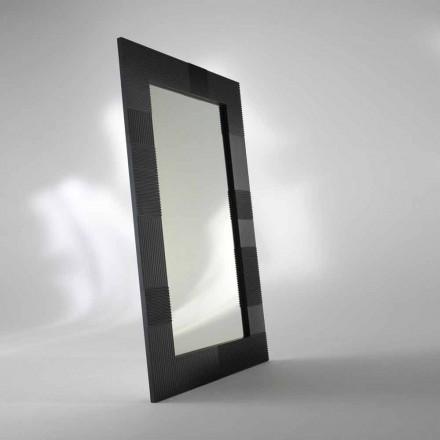 Miroir de sol rectangulaire Thali, design moderne