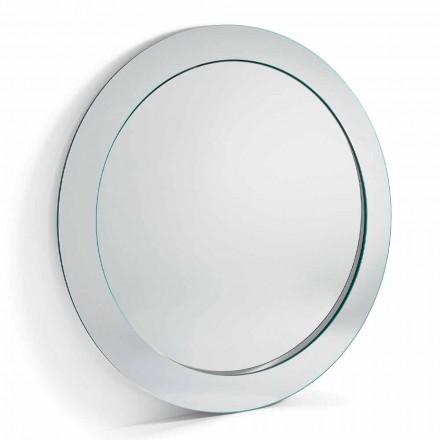 Miroir sur pied rond moderne avec cadre incliné fabriqué en Italie - Salamina