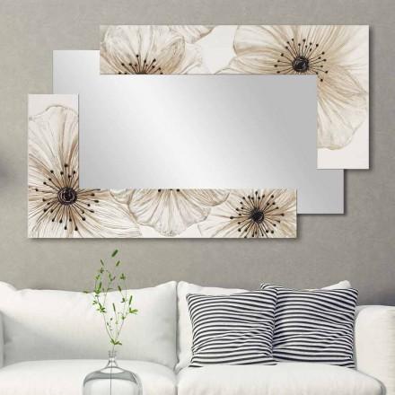 Miroir mural décoratif fait en Italie Sabbiate, design moderne
