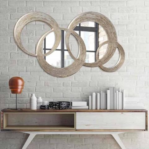 Miroir Mural D 233 Coratif En Mdf Avec D 233 Coration En Feuille D