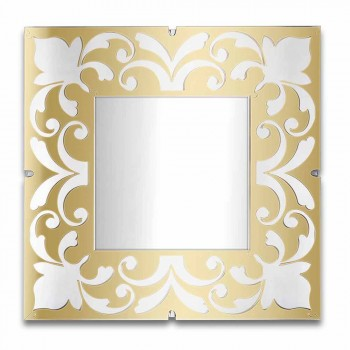 Cadre Miroir Carré en Plexiglas Design Or, Bronze ou Argent - Foscolo