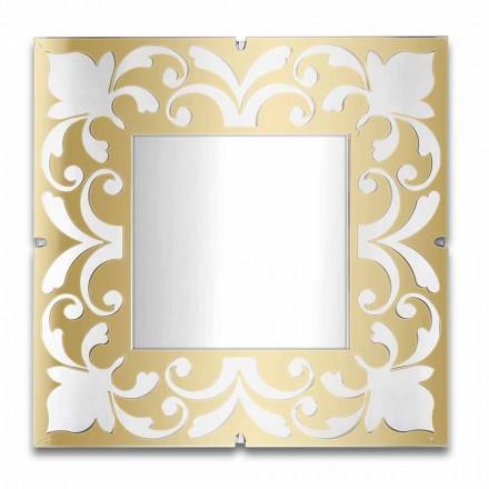 Cadre Miroir Carré en Plexiglas Design Or, Bronze, Argent - Foscolo