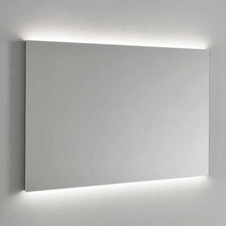 Miroir mural rétroéclairé par LED, cadre en acier Made in Italy - Tundra